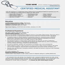 Medical Assistant Sample Resume Entry Level