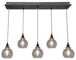 modern glass globe pendant chandelier with edison bulbs no bulbs suspended