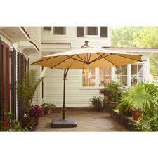 nice led patio umbrella hampton bay 11 ft offset led patio umbrella in tan yjaf052 tan furniture decorative pictures