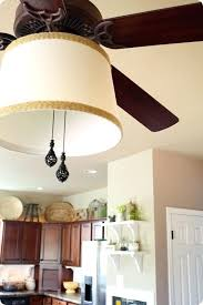 add light to ceiling fan adding a drum shade to a lighted ceiling fan how to add a light kit to an existing ceiling fan