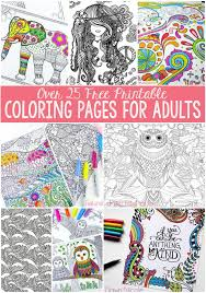Small Picture Free Coloring Pages for Adults Easy Peasy and Fun