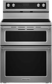 kitchenaid 30 inch double oven electric range stainless steel ykfed500ess