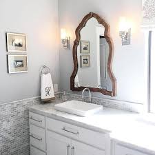 white and silver bathroom