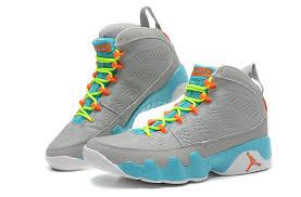 jordans shoes for girls 2015. girls air jordan 9 retro gs wolf grey neon orange-mint candy for sale- jordans shoes 2015 h