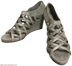 excellent quality womens shoes eileen fisher pewter cage style wedges 23163799