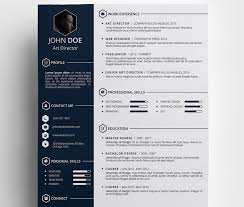 Resume Creative Template Free Creative Resume Template Ravishing
