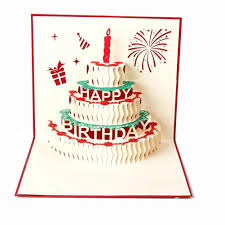 3d Birthday Pop Up Cards And Envelopes Happy Birthday Cake Card