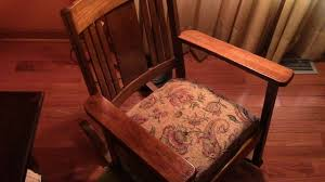98 Restoring Craftsman Style Antique Oak Rocking Chair - YouTube