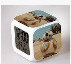 small bathroom clock: star wars force awakening alarm clock led creative gifts discoloration colorful cartoon shape small alarm clock