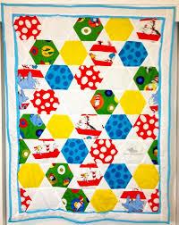 80 best dr seuss quilts images on Pinterest   Baby art crafts ... & Cat in the Hat Hexagon Quilt Adamdwight.com