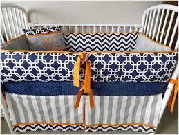 navy and grey chevron baby bedding
