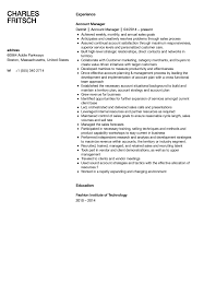 Account Manager Resume Sample Account Manager Resume Sample Velvet Jobs 36