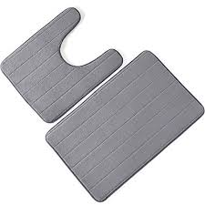mecor bathroom rugs bath mat set of 2 memory foam bath mat and u