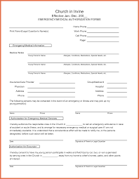 Medical Authorization Form Template Medical Release Form Template Bio Example 7