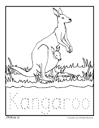 Small Picture Zoo Animal Coloring Pages Baby Kangaroo Woo Jr Kids Activities