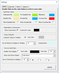 Gantt Excel - Customizing The Gantt Chart Timeline Colors