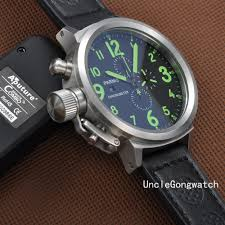 aliexpress com buy 50mm parnis green numbers lefty crown big aliexpress com buy 50mm parnis green numbers lefty crown big face full chronograph mens watch pq5003sbg from reliable watch f suppliers on unclegongwatch