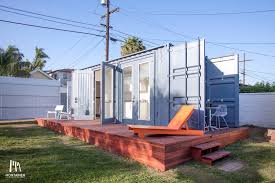 a tiny house converted froma shipping container