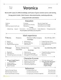 Writing Job Descriptions Template With Job Resume Barista Resume ...