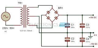 circuit diagram 15v dc power supply the wiring diagram simple audio tone control circuit wiring diagram