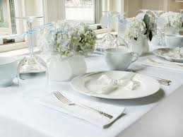 elegant table settings. Elegant Table Settings For Modern White And Blue Bridal Shower Setting W