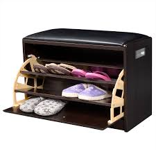 Shoe Storage Ottoman 2 In 1 Wooden Shoe Cabinet Ottoman Storage Entryway Benches