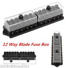 universal 12 way car circuit standard auto blade fuse box block universal car truck van 12 way circuit 12v standard blade block fuse box holder