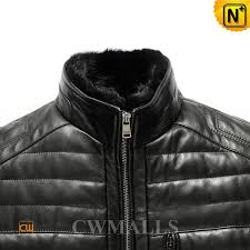 leather down jacket cw846025 cwmalls com quilted leather mens