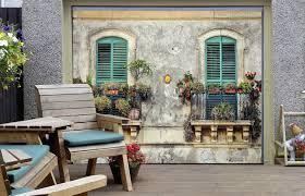 garage door murals3D Window Potted 5 Garage Door Murals Wall Print Decal Wall Deco