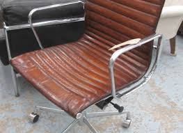 eames ribbed chair tan office. revolving desk chair charles eames design ribbed tan brown chair office