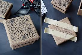 hand lettered gift boxes