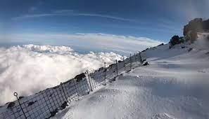 富士山 滑落 動画