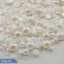 Mix Pearls for Nails AB Pearls for Decoration 3D Nail Art Jewelry ...
