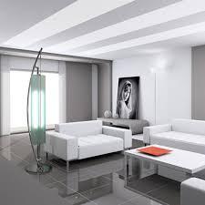 contemporary floor lighting. White Sofa Beside Contemporary Floor Lamps On Sleek Floortile And Women Picture Near Window Lighting