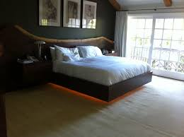 under bed led lighting. Live Edge Walnut Platform Bed With LED Lighting And Floating Nightstands. $33,000.00, Via Etsy Under Led E