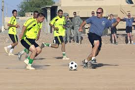 u s department of defense photo essay  a u s ier soccer player does his best to gain control of the ball during a