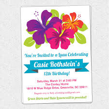 40th birthday ideas hawaiian birthday invitation templates request a custom order and have something made just for you