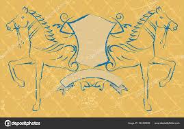 Tetování Koně S štít Stock Vektor Ajayshrivastava 164492628