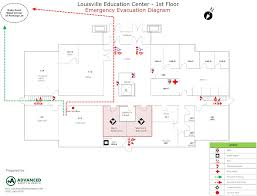 sample safety plan emergency evacuation maps advanced safety health