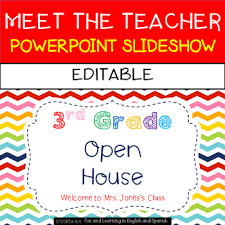 Teacher Powerpoint Meet The Teacher Powerpoint Slideshow Editable Tpt