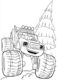 Monster Machine Coloring Pages Blaze Get Coloring Pages 10