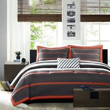 orange and blue comforter mi zone striped orange grey comforter set