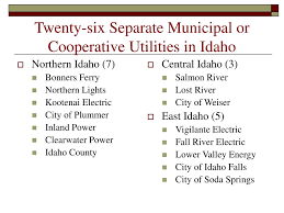 Idaho County Light And Power Ppt Public Power Utilities In Idaho Powerpoint