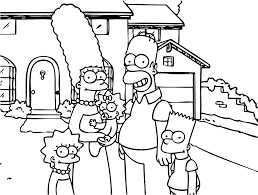 The Simpsons For Children The Simpsons Kids Coloring Pages