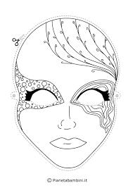 Maschere Di Carnevale Da Colorare Galleria Di Immagini