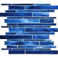daltile glass tile glass mosaics serenade stained glass mosaic blues blend random linear glass tile mosaic