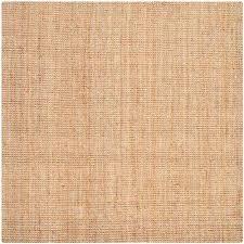 natural fiber natural 7 ft x 7 ft square area rug