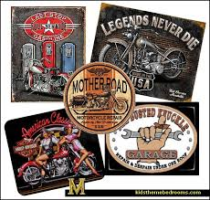 Harley Davidson Signs Decor Decorating Theme Bedrooms Maries Manor Man Cave Decorating 40