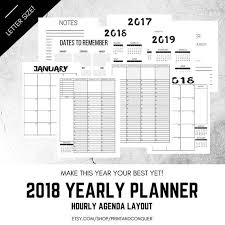 hourly agenda 2018 weekly planner printable planner hourly agenda layout calendar planner schedule printable