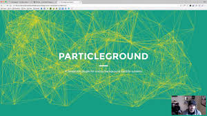 Particle Backgrounds Web Design How To Add A Nice Moving Particles Background Effect